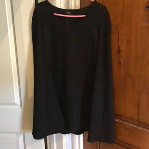 Cape black shift dress